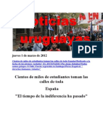Noticias Uruguayas Jueves 1 de Marzo de 2012