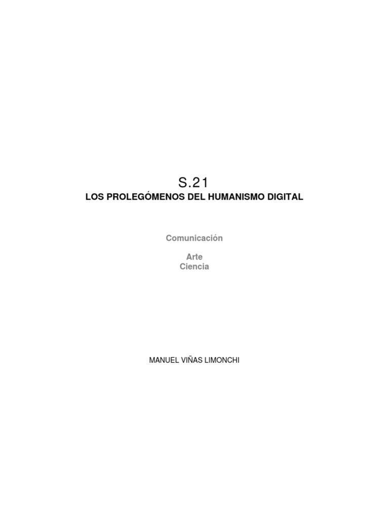 LOS PROLEGÓMENOS DEL HUMANISMO DIGITAL