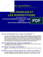 Sondage Superstitions Francais