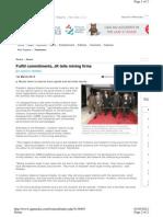 Kikwete Investors Need Tofulfill Committments