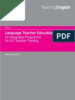 Language Teacher Education an Integrated Programme for EFL Teacher Training