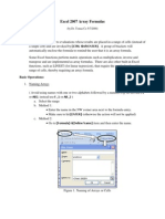 Excel Array Formulas