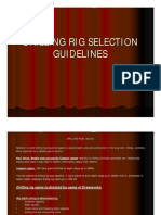 Drilling Rig Selection - Guidelines Only]