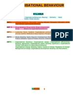 Organizational Behavior Book 2nd Sem Mba @ Bec Doms