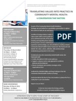 Translating Values Into Practice in Community Mental Health (1)