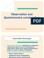 Observation & Questionnaire- II Session