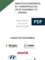 CASOS DE IMPACTOS ECONÓMICOS, SOCIALES Y AMBIENTALES