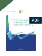 Livre Blanc Reconquérir le lien entre dirigeants managers et salariés