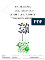 Synthesis & Characterization of the Cubic Form of Tantalum Nitride