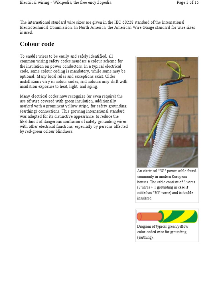 Magnificent Electric Cable Colors Mold - Wiring Diagram Ideas ...