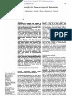 Brain Atrophy in Fronto-temporal Dementia