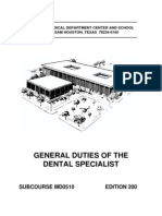 US Army Medical Course MD0510-200 - General Duties of the Dental Specialist