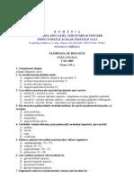 2009 Biologie Etapa Locala Subiecte Clasa a XI-A 0