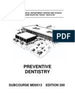 US Army Medical Course MD0513-200 - Preventive Dentistry