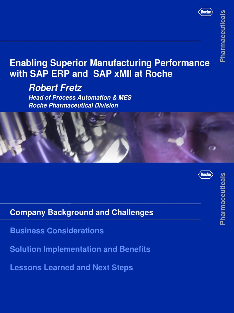 Sap Mii in Pharma Industry Roche Case Study | Business Process