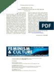 Feminism and Culture
