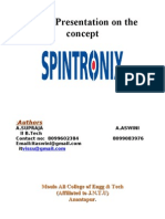 Ppt on Spintronics