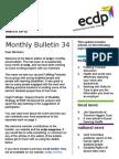 ecdp Email Bulletin 34