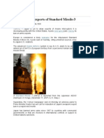 Japan to Allow Exports of Standard Missile-3