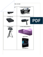 Equiment and Technology in Video Production