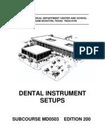 US Army Medical Course MD0503-200 - Dental Instrument Setups
