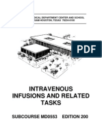 US Army Medical Course MD0553-200 - Intravenous Infusions and Related Tasks