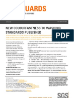 New Colour Fastness to Washing Standards