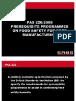 SABS Presentation PAS 220
