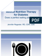 Medical Nutrition Therapy for Diabetes—Does a perfect eating plan exist?