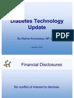 Diabetes Technology Update Jan 2010