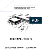 US Army Medical Course MD0807-200 - Therapeutics IV