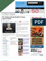 NY Yankees Donate $5,000 To Fargo Cancer Center « CBS Minnesota