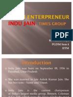 Indu Jain Ppt