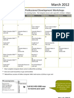 March 2012 Workshop Calendar