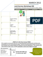 March 2012 Fin Serv Workshop Calendar