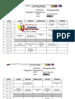 Horarios (Pnf Ing Mantenimiento Trayecto 1y2, Trimestres 3y5 Febrero -Junio 2012