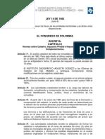 LEY 14 _ 1983 Ley de Impuestos. Impuesto de Renta y Complementarios, e Impuesto de Industria y Comercio (ICA), Impuesto Predial