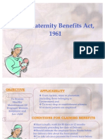 Maternity Benefits Act,1923