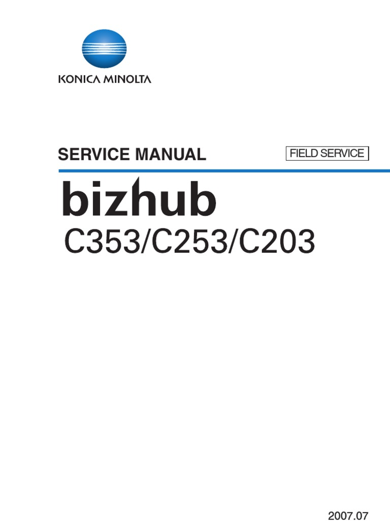 Bizhub 203 Service Manual | Electrical Connector | Ac Power Plugs And  Sockets