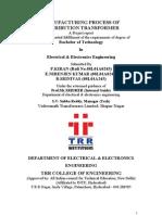 Construction Practice of Distribution Transformer