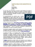 NECESSIDADES HABITACIONAIS NOS MUNICÍPIOS DO RIO GRANDE DO SUL