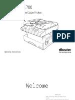 MFX1300, MFX1700 Operating Instructions