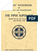 Piper PA-18 Super Cub Owner's Handbook