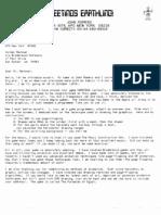 John Romero's Letter
