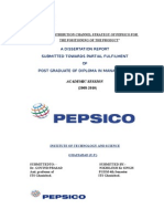 35066700 Study of Distribution Channel Strategy of the Pepsico