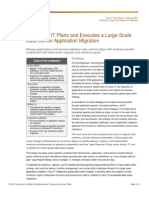 How Cisco IT Plans and Executes a Large-Scale Data Center Application Migration