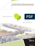 Class of 2012 SPJIMR Finance