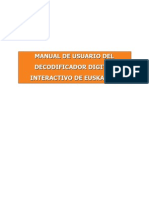 Manual Usuario Decodificador Interactivo de Euskaltel