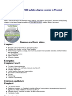 Physical Chemistry- IITJEE Syllabus