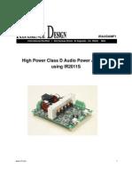 Iraudamp1_High Power Class D Audio Power Amplifier Using IR2011S